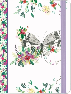 JOURNAL PAPILLON CHAMPETRE 16 x 21 CM