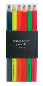 LOT CRAYONS DE CHARPENTIERS FLUORESCENTS