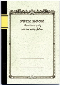 NOTE BOOK BROCHE 18 X 24 COUVERTURE BLANCHE 64 PAGES INTERIEUR LIGNE