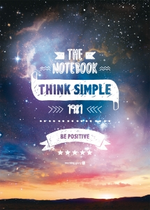 NOTEBOOK THINK SIMPLE 18.6 X 25.4 CM - PAGES LIGNEES