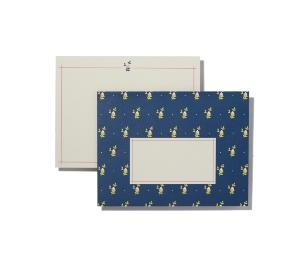 LOT 6 ENVELOPPES DECORATIVES IMPRIMEES BLEUE ET CARTES DE CORRESPONDANCE