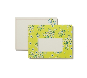 LOT 6 ENVELOPPES DECORATIVES IMPRIMEES JAUNE ET CARTES DE CORRESPONDANCE
