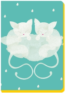 CARNETS CHAT SIAMOIS 13X18.4CM MARINE LE LUONG