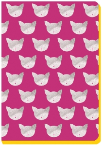 CARNETS TETES CHATONS 13X18.4CM MARINE LE LUONG