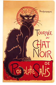 "CARNET A6  ""MOUSS"" CHAT NOIR"