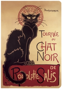 CARNET PARIS CHAT NOIR  A6 10 X 15 144 PAGES IVOIRES LIGNEES