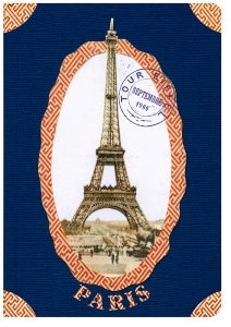 CARNET PARIS MARIE BLEU A6 10 X 15 176 PAGES IVOIRES LIGNEES