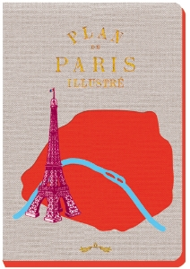 CARNET PARIS ROUGE GRIS 13 X 18