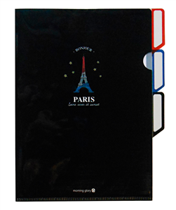 PORTE DOCUMENTS PLASTIQUE PARIS NOIRE