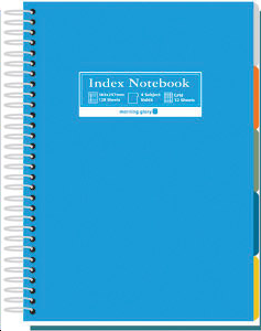 INDEX NOTEBOOK SPIRALES BLEU