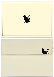 SET DE CARTES & ENVELOPPES CHAT