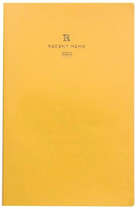 RECENT MEMO JAPONAIS LIFE JAUNE CARREAUX A5 130X200mm PAGES MICOPERFOREES