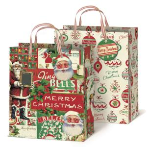 SET DE 2 SACS EN PAPIER NOEL ASSORTIES