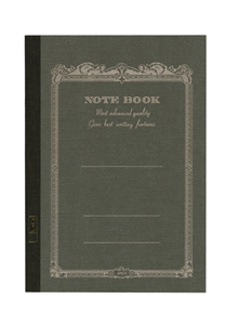 NOTE BOOK APICA 15 X 21 CM ANTHRACITE INTERIEUR LIGNE