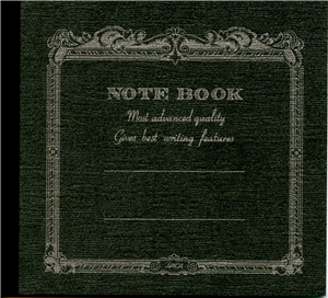 NOTE BOOK APICA 14 X 12.4 CM ANTHRACITE INTERIEUR LIGNE