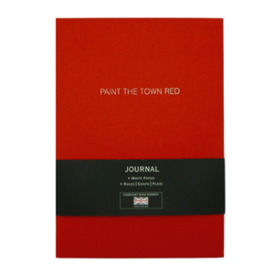 "CARNET LIN A5 ""PAINT THE TOWN RED"""