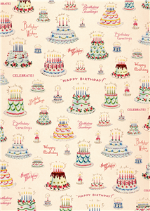 POSTER - PAPIER CADEAU CAVALLINI HAPPY BIRTHDAY