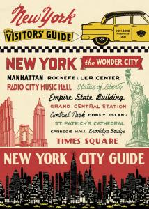 POSTER - PAPIER CADEAU CAVALLINI NEW YORK CITY GUIDE