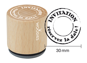 Woodies tampon Invitation - réservez la date