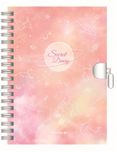 JOURNAL INTIME CONSTELLATIONS ROSE