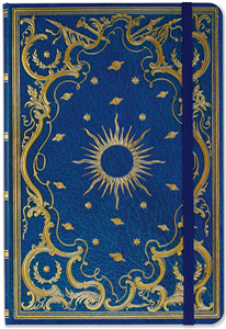 JOURNAL GRILLE DE POINTS 14,5x21 cm CELESTIAL