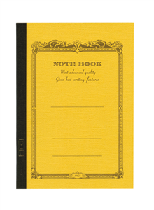 NOTE BOOK APICA 15 X 21 CM MOUTARDE INTERIEUR LIGNE