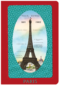 CARNET Paris MARIE ROUGE A6 10 X 15 176 PAGES IVOIRES LIGNEES