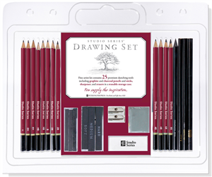 CRAYONS GRAPHITE D'ARTISTE : SET DE 25 PIECES