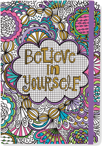 JOURNAL A COLORIER 13 x 18 CM BELIEVE IN YOURSELF