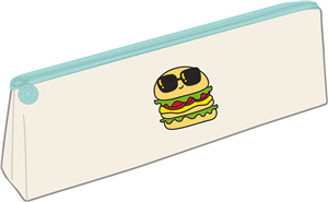 TROUSSE HAMBURGER - BLANC - 21.5 X 9.5 CM