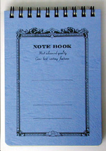 NOTE BOOK 9 X 13 SPIRALES BLEU