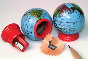 TAILLE-CRAYONS GLOBE 21 pieces = 1 boite