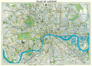 POSTER - PAPIER CADEAU CAVALLINI LONDON MAP 2