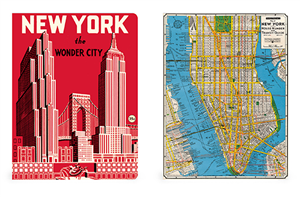 SET DE 2 NOTEBOOKS CAVALLINI NEW YORK