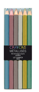 LOT DE 6 CRAYONS METALLISES