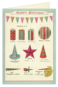 CARTE POSTALE DOUBLE + ENVELOPPE CAVALLINI HAPPY CELEBRATIONS