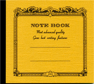 NOTE BOOK APICA 14 X 12.4 CM MOUTARDE  INTERIEUR LIGNE