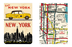 SET DE 2 CARNETS MEMO CAVALLINI NEW YORK