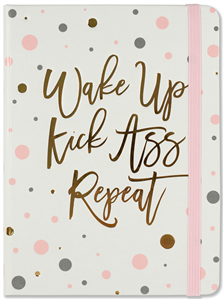 JOURNAL WAKE UP, KICK ASS, REPEAT 16 x 21 cm