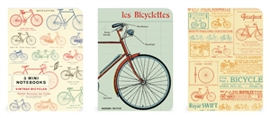 ENSEMBLE DE 3 CARNETS CAVALLINI BICYCLETTES 10 X14