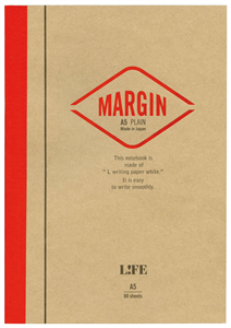 CARNET JAPONAIS LIFE UNI + MARGE DOS CARRE 148 X 210 MM - 200 PAGES