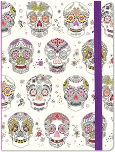JOURNAL TETES DE MORT MEXICAINES 16 x 21 CM