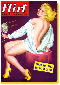 CARNET FUN IN THE BOUDOIR 13 X 18 - 208 PAGES LIGNEES