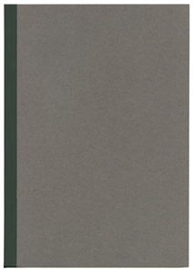 NOTE BOOK GRIS - FORMAT B5 252X179MM - 52 PAGES LIGNEES DOS NOIR