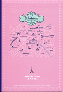 NOTE BOOK PARIS - 18X25 - 60 PAGES LIGNEES DOS BLEU