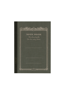 NOTE BOOK APICA 10 X 15 CM ANTHRACITE INTERIEUR LIGNE