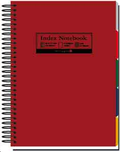 INDEX NOTEBOOK SPIRALE ROUGE