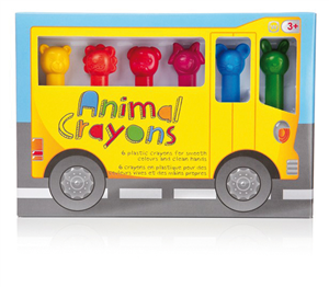 CRAYONS 6 COULEURS NPW - ANIMAUX