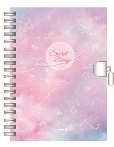 JOURNAL INTIME CONSTELLATIONS VIOLET