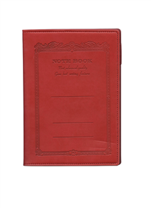 NOTE BOOK APICA RECHARGEABLE EN IMITATION CUIR 15X21 CM ROUGE INTERIEUR CARREAUX